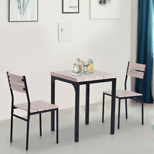 3pcs Kitchen Dining Table and Chairs Set