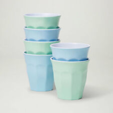 "Barel Designs Classic ""Frost"" Melamine Tumblers 260mL - Set of 6 Picnic Cups"