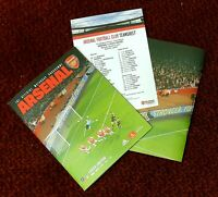 Arsenal v Leeds United FA CUP 3RD ROUND Programme with teamsheet 06/01/20