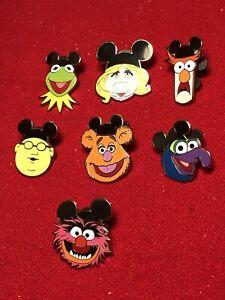 7 Disney pins Muppets Wearing Mouse Ear Hats    As Seen Lot x