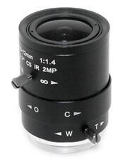 Camera Varifocal Lens 2MP FL 2.8-12mm F1.4 CS Mount FOV 116°-28° Format 1/2.7""