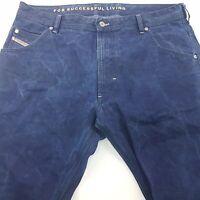 Diesel KROOLEY Mens Vintage Jeans W36 L34 Dark Blue Regular Straight High Rise