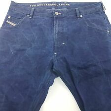 Diesel KROOLEY Mens Vintage Jeans W36 L34 Dark Blue Regular Straight High Rise