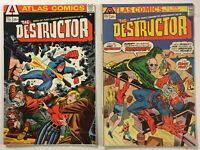 The Destructor #s 1 and 2 1st App. Bronze Age 1975 Atlas Seaboard Comics Ditko