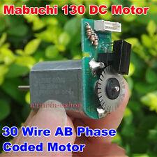 Mabuchi 130 DC6V-12V 7800RPM Metal Speed Encoder Tachometer AB Phase Coded Motor
