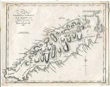 TOBAGO BRITISH WEST INDIES 1794 MAP BRYAN EDWARDS