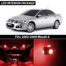 2003-2008 Mazda 6 Red Interior LED Lights Package Kit MazdaSpeed 6