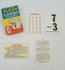 Vintage MILTON BRADLEY  Flash Cards SUBTRACTION Grade 2 to 6 1963 NO. 4458