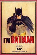 BATMAN RETRO ART IMAGE A4 Poster Gloss Print Laminated
