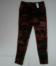 ef6e65c60b Helmut Lang Red Multi Midnight Floral Twill Trouser Pants Womens Size 4