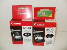NEW Lot of 2 Canon BC-01 Black Ink Cartridges GENUINE Unopened packages