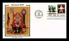 DR JIM STAMPS US CHRISTMAS COMBO COLORANO SILK UNSEALED FDC COVER