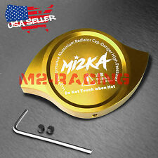 Yellow Billet Aluminum Radiator Protector Pressure Cap Cover High Performance