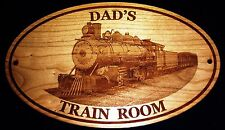 """""""PERSONALIZED TRAIN ROOM SIGN  Any Name w/ Steam Engine / Father's Day Gifts"""