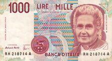 BANCONOTA ITALIANA DA 1000 LIRE MONTESSORI SERIE RH- SC-7