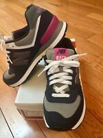 New Balance Women's WL574 Classic Running Shoes, Blue/Pink/grey,9 B US