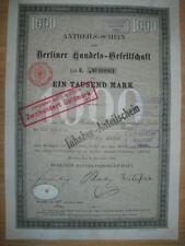 Berliner Handels - Gesellschaft  1889  Berlin    ING  BHF Bank