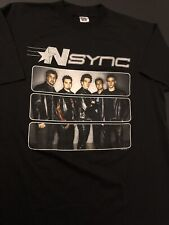 Vintage Nsync Popodyssey Tour 2001 T-Shirt Brand New Men Size Xl Black