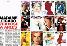 PUBLICITE ADVERTISING 094  1990   MADAME FIGARO s'expose à ARLES ( 2 pages)