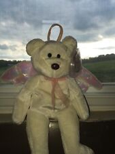 "TY ""Halo"" Angel Bear  Beanie Baby Rare Tush Tag #466 Excellent Cond. BEST OFFERS"