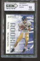 2000 Impact #27 Tom Brady RC Rookie Gem Elite 10 Pristine New England Patriots
