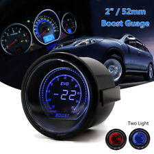 2'' 52mm Digital EVO Gauge BOOST Vacuum TURBO Meter Blue/Red SMOKE LED PSI AU