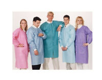 10 Disposable Easy Breathe Lab Coat Knee Length Dental Medical ValuMax 3560