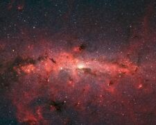New 11x14 Photo: Infrared Image of Milky Way Galaxy from Spitzer Space Telescope
