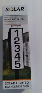 Solar Lighted LED  Address Sign Outdoor House Number Plaque NEW Home