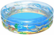 Lay-Z-Spa Bestway Inflatable Transparent Sea Life Pool 1.7m x H53cm 51048
