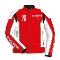 DUCATI Dainese IOM Isle of Man Lederjacke Jacke Leather Jacket rot NEU !!