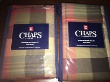 NEW! 2 CHAPS By RALPH LAUREN HUDSON RIVER VALLEY FALL MULTI PLAID EURO SHAMS 26""