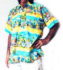 """Loud Hawaiian Hombre Camisa con Tropical botellas de cerveza, XXXL, 58 """", NUEVO,"""