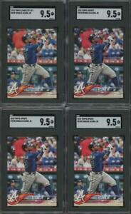 2018 Topps Complete Set #698 Ronald Acuna Jr RC Rookie Mint+ SGC 9.5 Lot Of 6