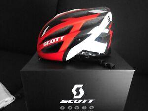 Scott Wit R Bike Fahrrad Helm Road MTB Rot Weiss matt Gr. M (55-59 cm)
