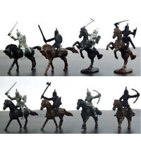 28PCS/set Soldier Model Medieval Knight Warriors Horses Playset Toy Culture Gift