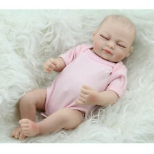 """11"""" Inch Full Body Silicon Premature Baby Sleeping Girl Doll + Clothes Gifts SUN"""