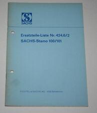 Teilekatalog Sachs Stamo 100 / 101 Stationärmotor von 1968