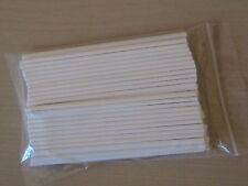"50 x 8"" 203mm LONG PAPER LOLLY POP STICKS LOLLIPOP COOKIE CRAFT CHOCOLATE MOULD"