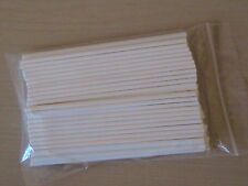 "50 x 11.75"" (299mm) LONG PAPER LOLLY POP STICKS LOLLIPOP COOKIE CRAFT CHOCOLATE"