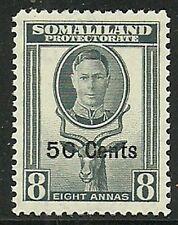 Album Treasures Somaliland Prot Scott # 121  50c on 8a George VI Mint LH
