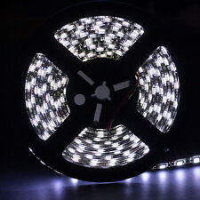 5M 5050 SMD 300 LED Strip Cool White Flexible Light IP65 Waterproof Black PCB