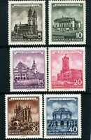 CATHEDRAL AT ERFURT,-GERMANY DEMOCRATIC REP. SC265-70 {6} BUILDINGS 1955 N/GUM