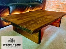 Handmade Rustic Live Edge Coffee Table Solid Wood 9 colors available