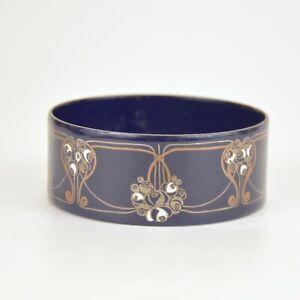 Bracelet de style Art Nouveau en metal émaillé de Michaela Frey