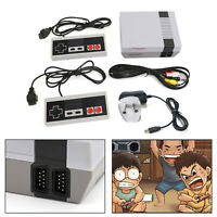 Retro Game Console 620 Built-in 1 MINI Classic Games + 2 Controllers AU Plug