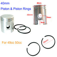 40mm 45mm 47mm Piston & Piston Ring Kit For 50cc 60cc 80cc Motorized Bike Engine