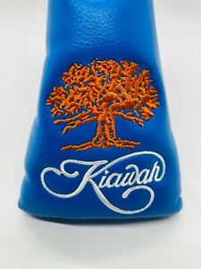 Kiawah Island Golf Resort Blue Leather Magnetic Blade Putter Headcover Mint Rare
