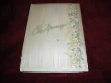 "1 VINTAGE ""OUR MARRIAGE"" BOOK CR GIBSON AND COMPANY, NORWALK, CONN.1951"