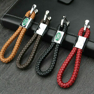 Pu Leather Hand Woven Car Logo Key Holder Carrier Keyring Automobile Keychain